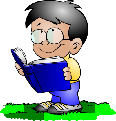 graphic black and white library Stick kids reading clipart. Page clipartaz free collection