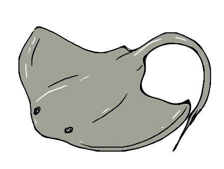 svg free library Stingray clipart black and white. Drawing comment cute pinterest