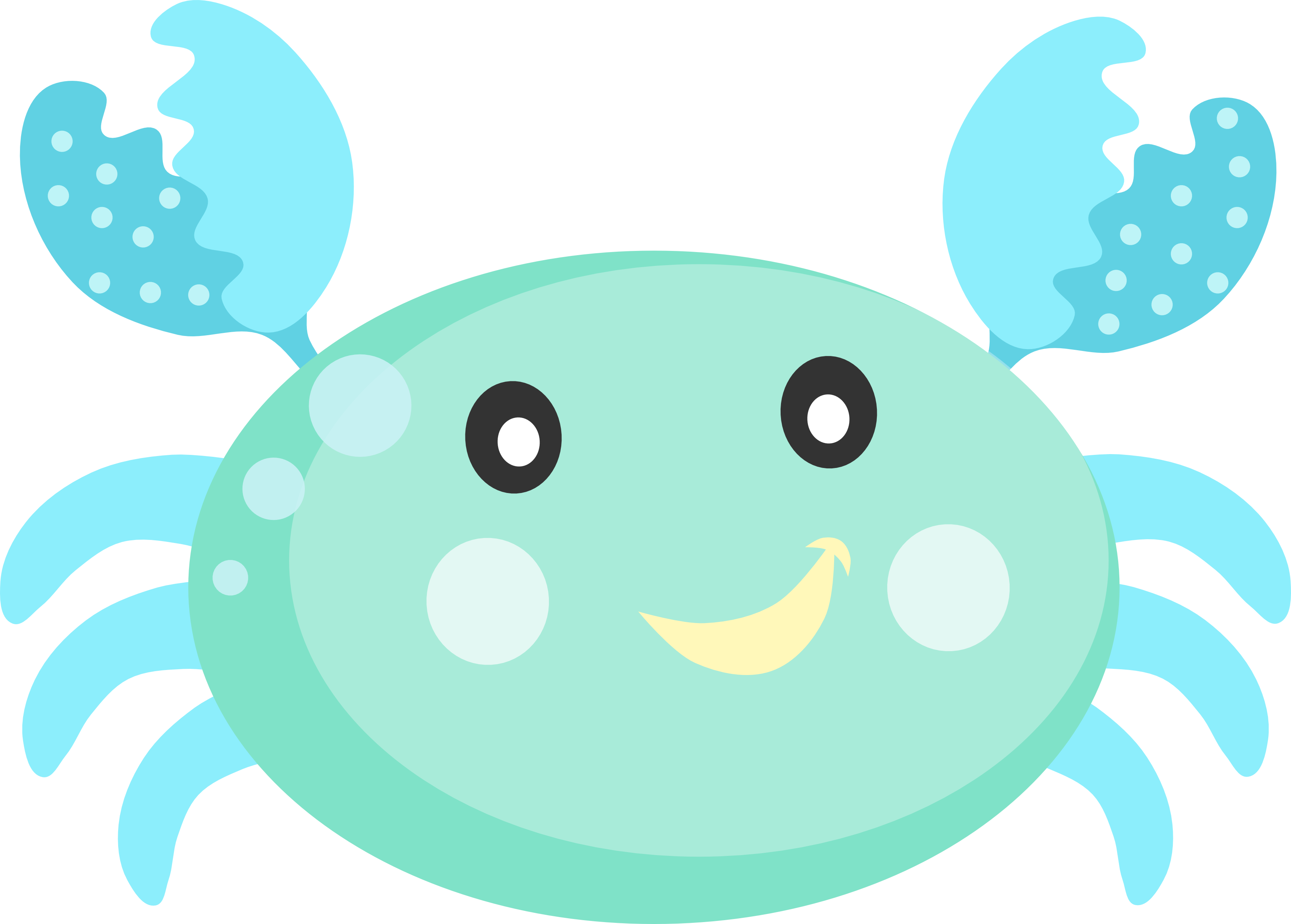 picture free Fundo do mar crab. Cute stingray clipart