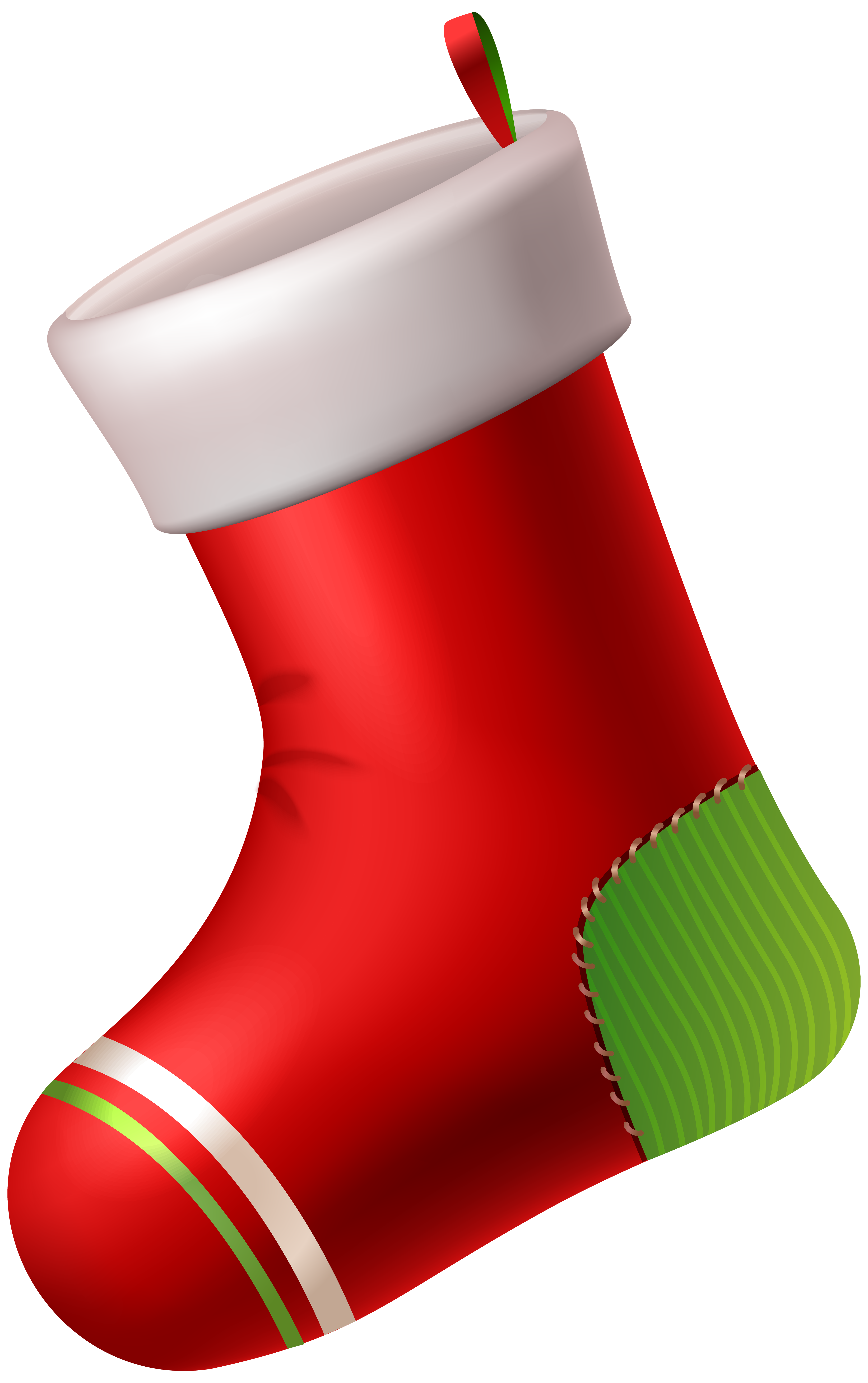 vector transparent download Red christmas png art. Stocking clip.
