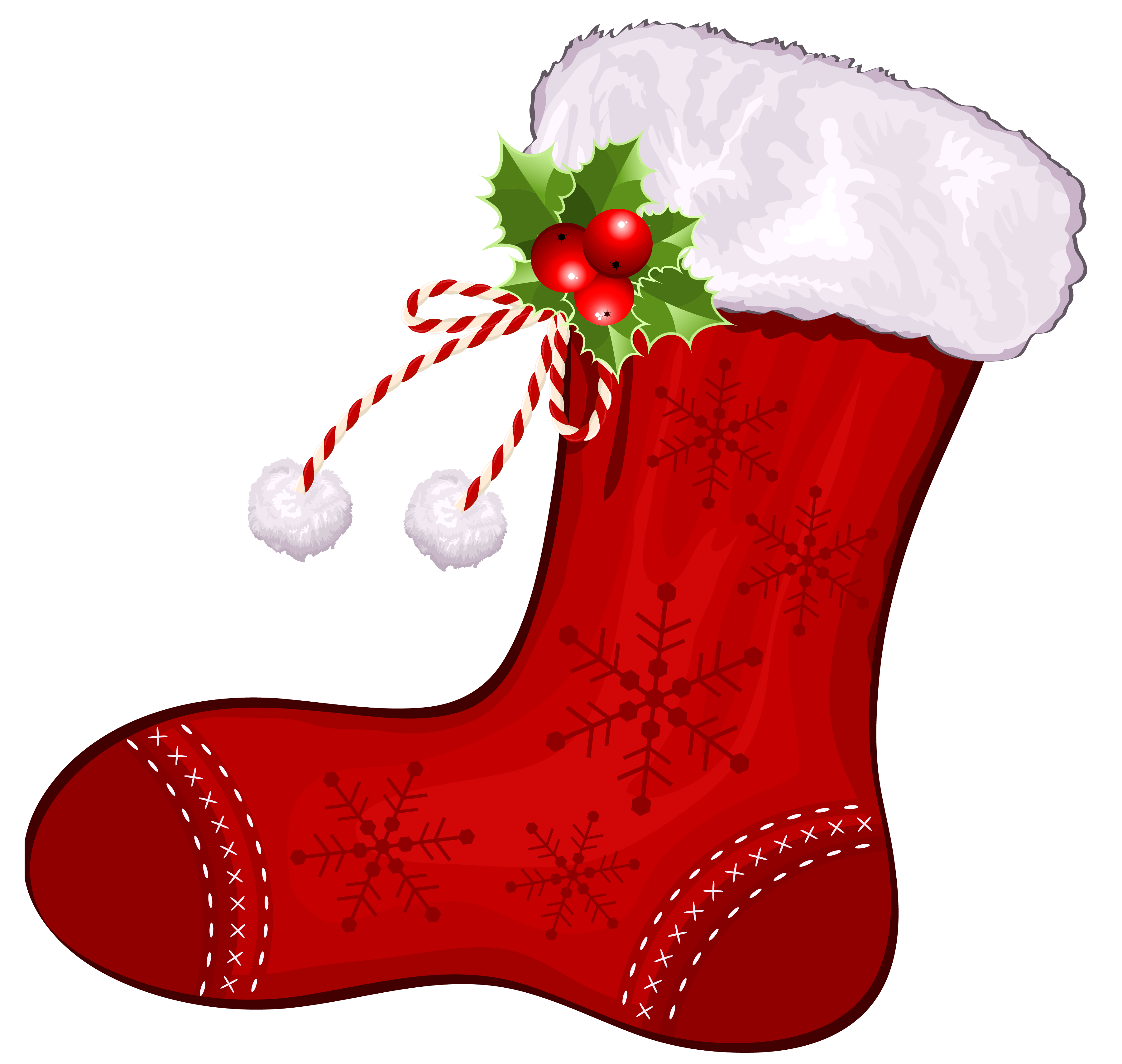 graphic library download Red Large Christmas Stocking Clipart