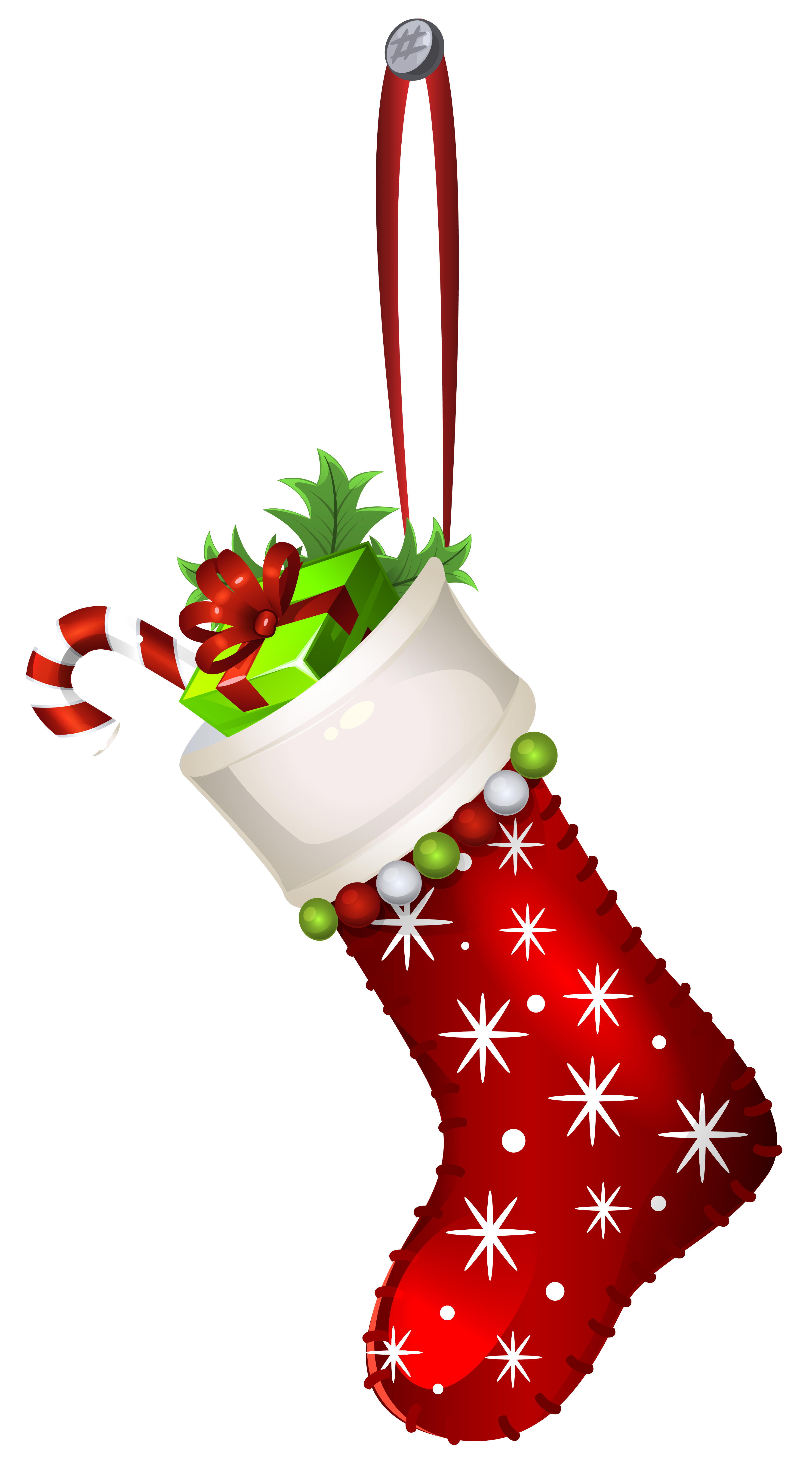 clip art freeuse Red christmas transparent png. Stocking clipart