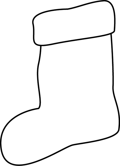 clip art royalty free Clip art image. Stocking clipart black and white