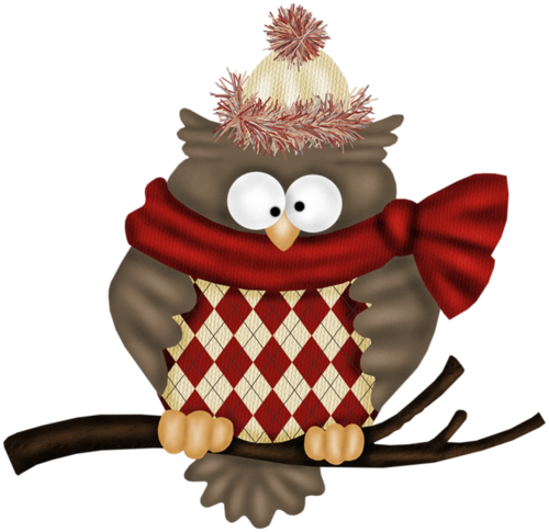 freeuse library Stocking clipart whimsical. Christmas owl clip art.