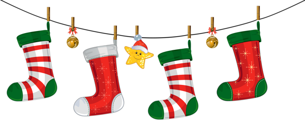 picture free library Transparent christmas stockings decoration. Stocking black and white clipart