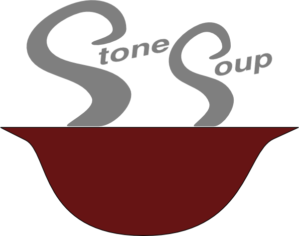 banner black and white stock Stone Soup Clip Art at Clker