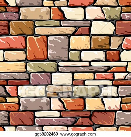 clipart transparent stock Stone wall clipart. Vector art color drawing