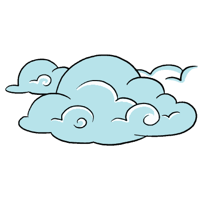 vector library stock Drawing technique cloud.  trippy for free
