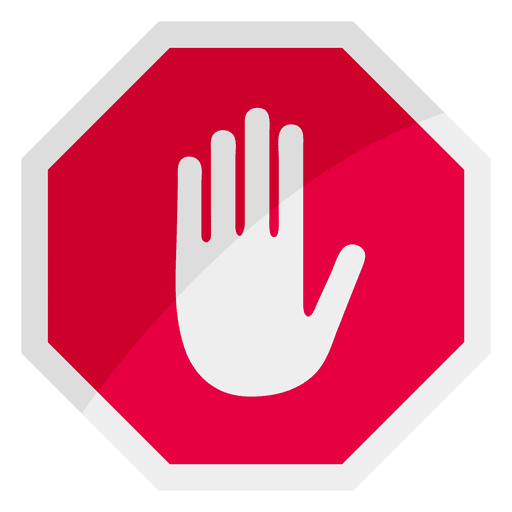 clipart transparent stock Stop sign icon hand