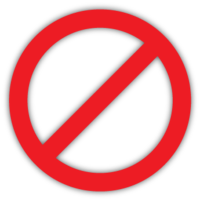 royalty free stock Banned transparent no entry. Ban stop icon free