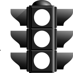 vector black and white Stop Light Clip Art at Clker