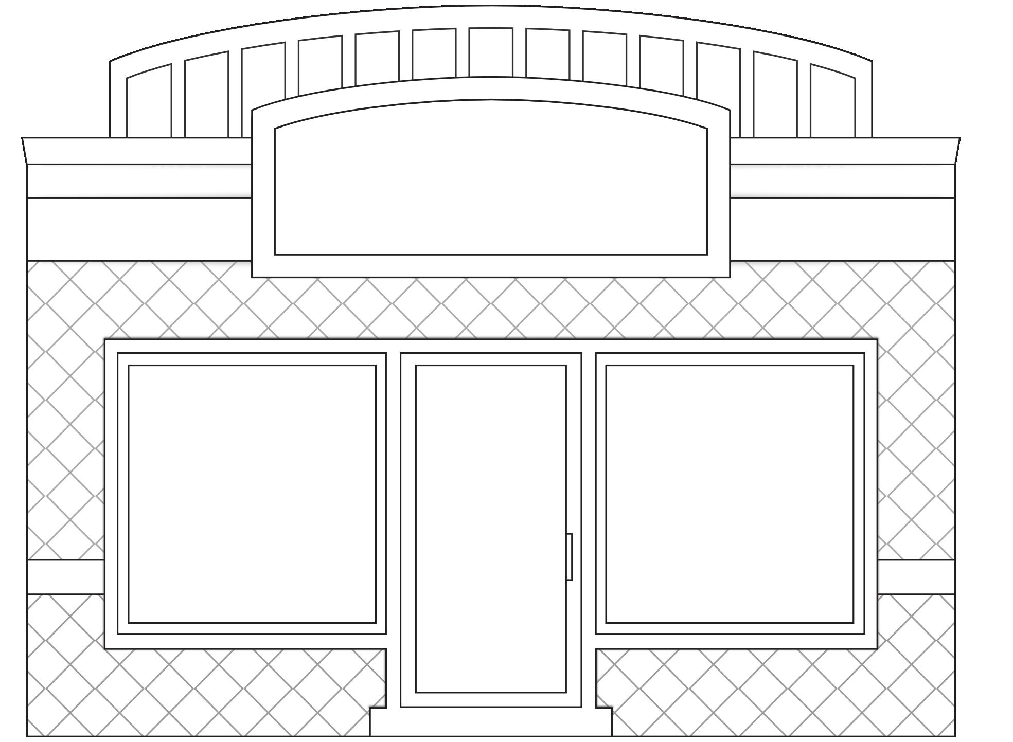 banner transparent Clipartist net clip art. Store clipart black and white