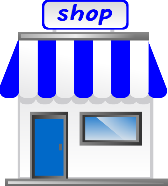 graphic royalty free Storefront backgrounds fantastic image. Supermarket clipart general store