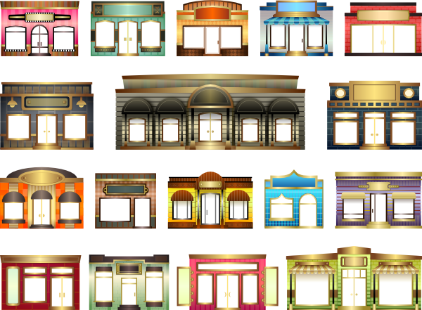 banner library download Store shop windows clip. Supermarket clipart shopfront