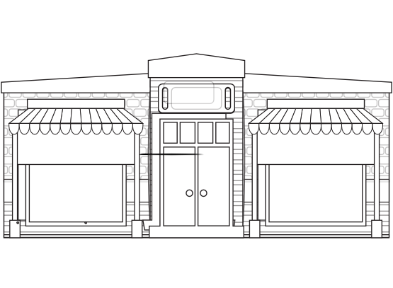 image free library Clipartist net clip art. Drawing store building
