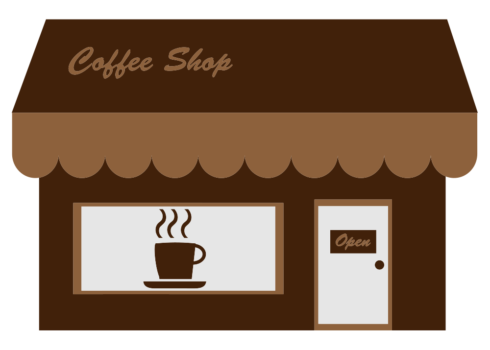 png download Onlinelabels art coffee storefront. Clip shop