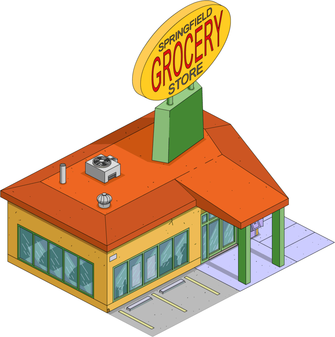 vector royalty free download Supermarket clipart outside. Picture of grocery store.