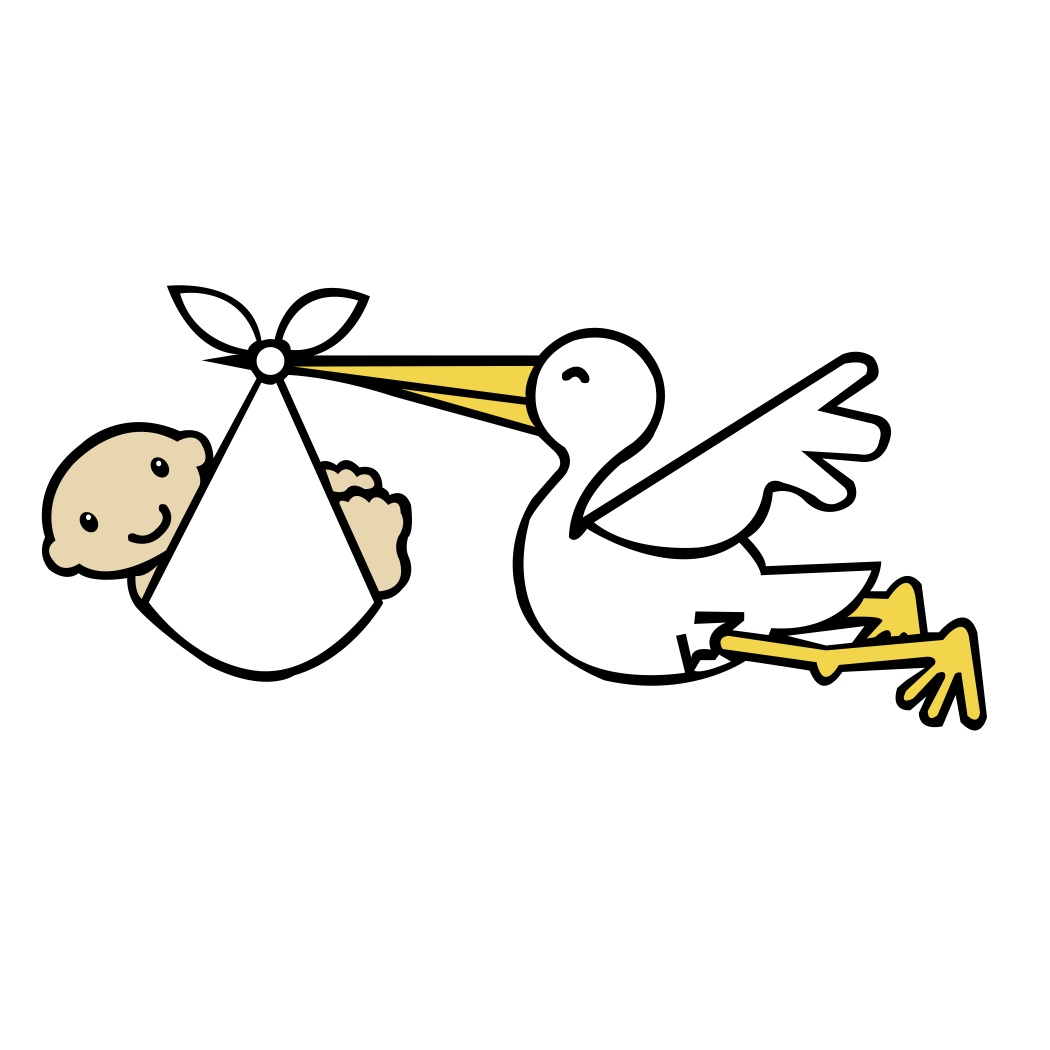 graphic freeuse download Stork clipart. Free baby pictures download.