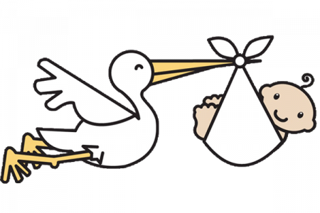 png freeuse download Baby And Stork Clipart Collection