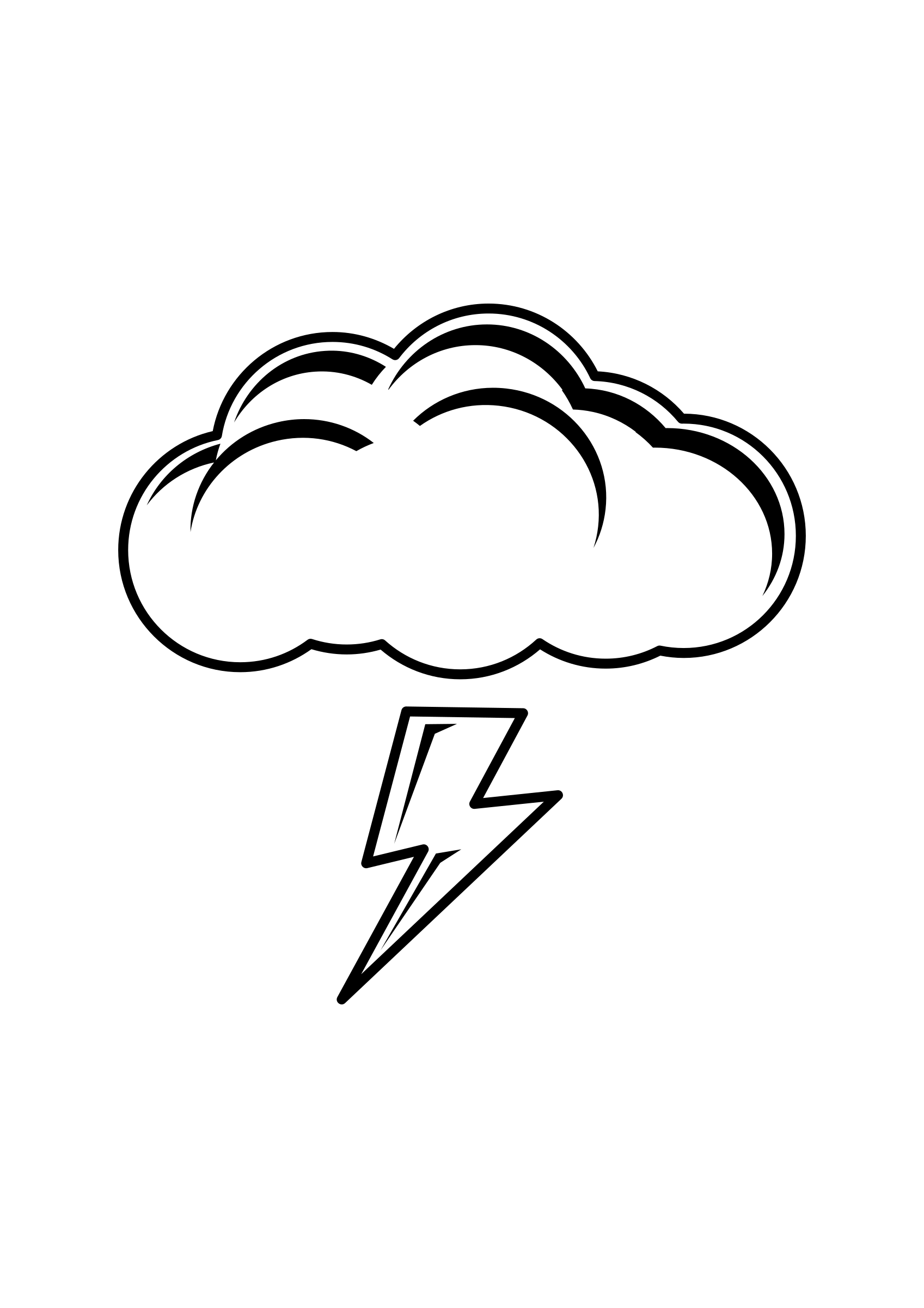 graphic stock  collection of high. Thunder clipart black and white