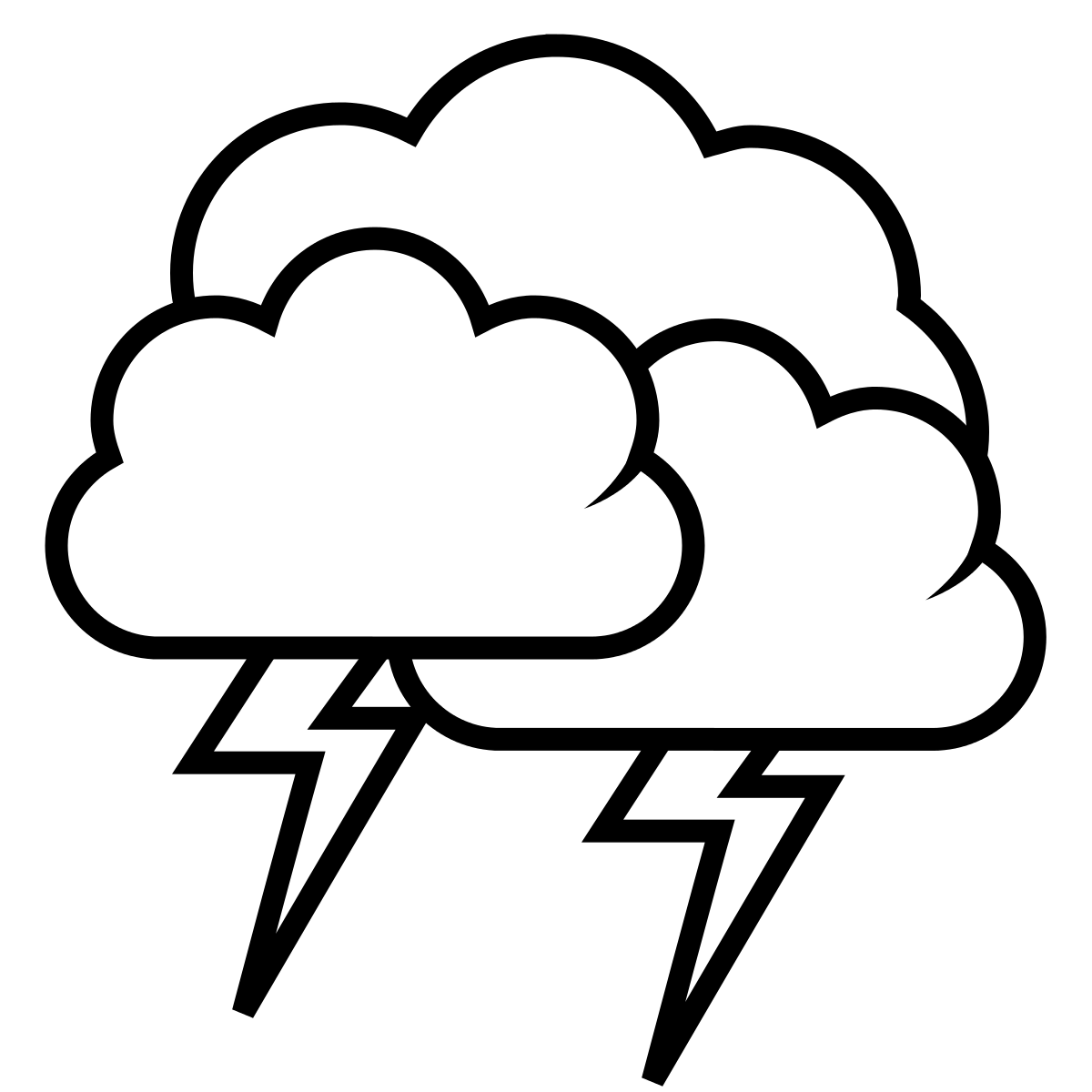 banner black and white download thunderstorm clipart thunderbolt #84867131