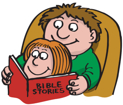 svg royalty free library Fathers clipart read with dad. Image reading bible stories