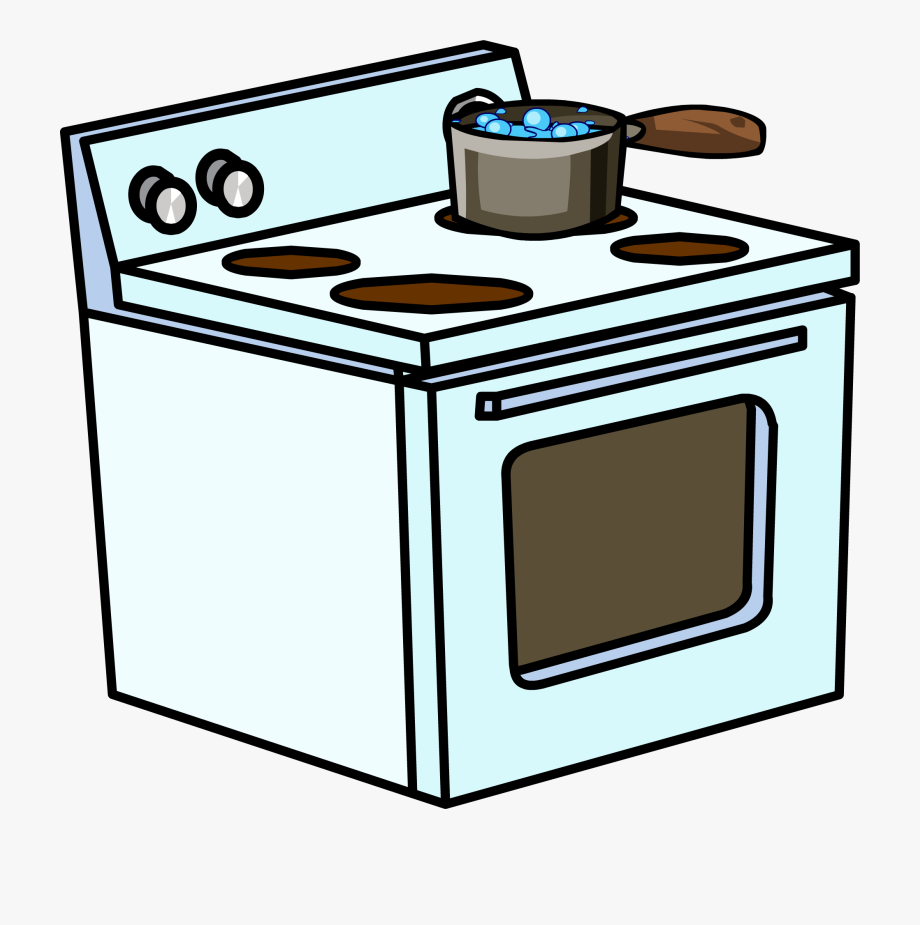 vector library Gas cooking on . Kitchen stove clipart