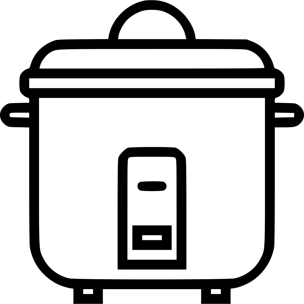 clipart black and white download Svg png icon free. Toaster clipart rice cooker
