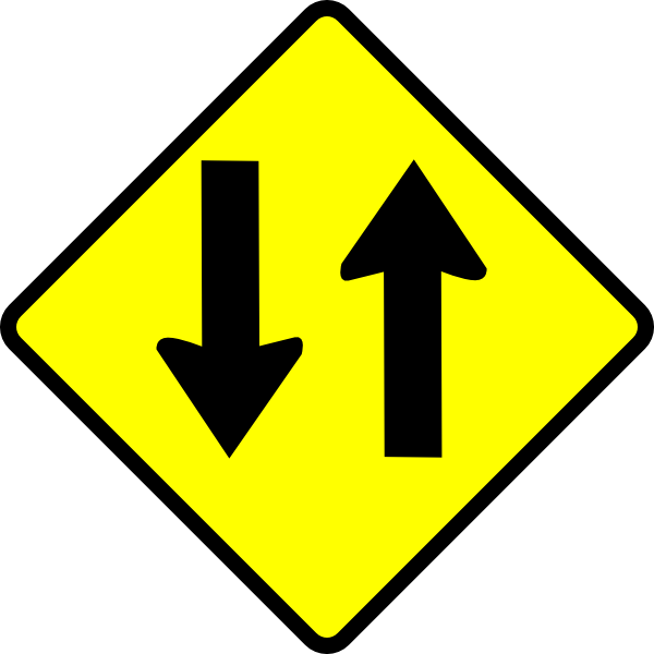 clip art royalty free stock Caution Two Way Street Clip Art at Clker