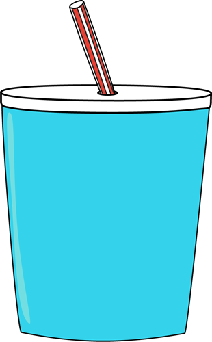 clip art freeuse library Straw clipart. Cup with