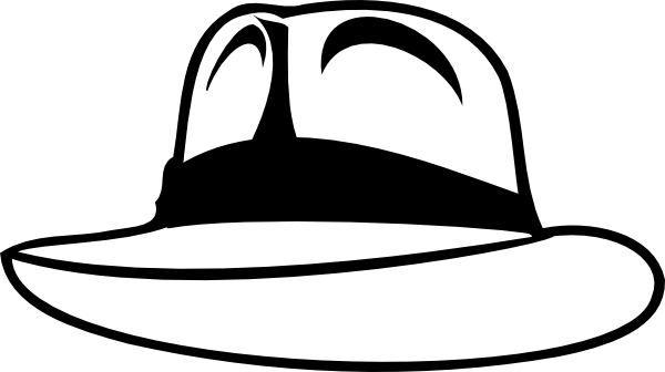 clipart black and white Fedora Hat Silhouette at GetDrawings