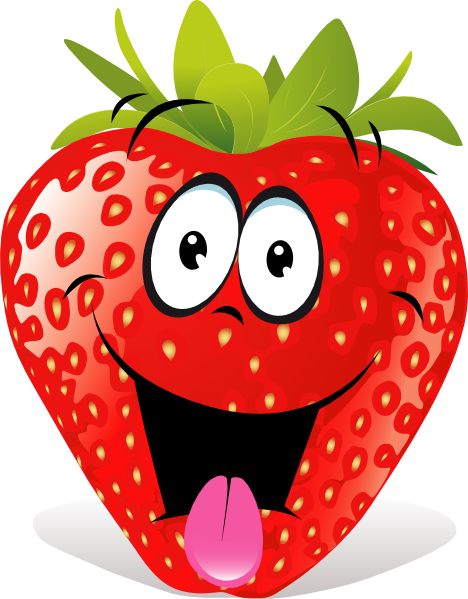 jpg transparent library Strawberry fruit clip art. Drawing strawberries cartoon