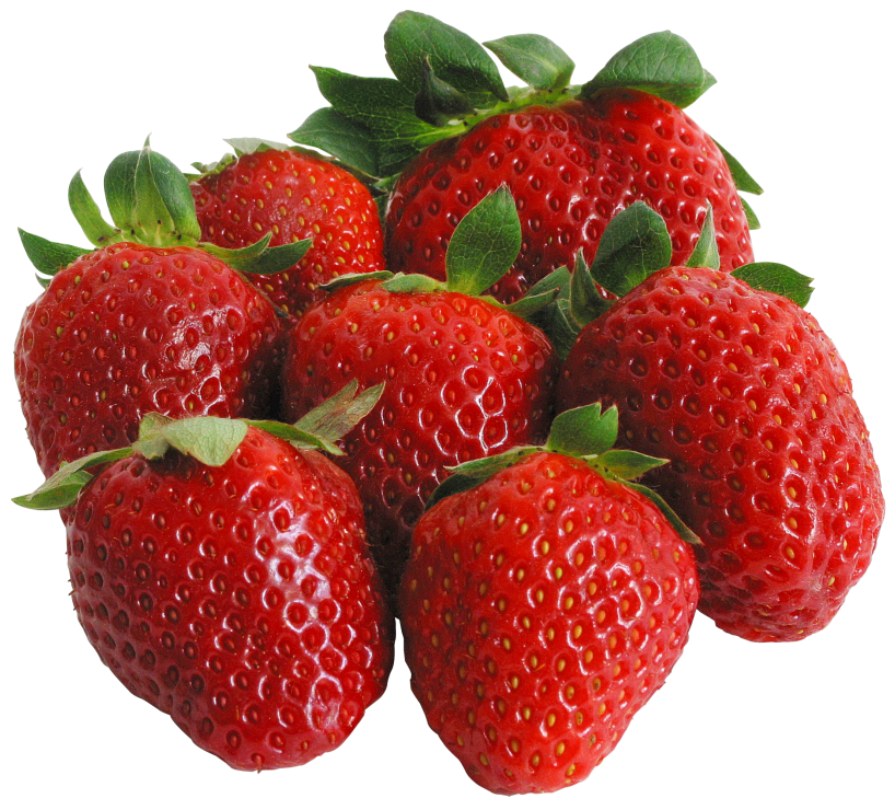 image Large PNG Strawberries Clipart