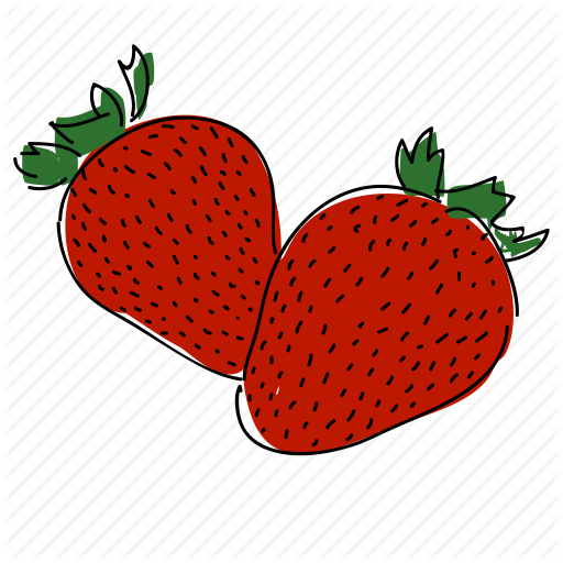 graphic free Drawing strawberries strawberry plant. Drawn fruit free clipart