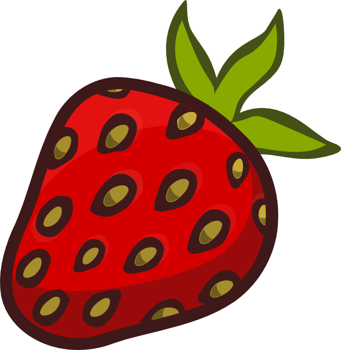 graphic black and white Strawberry clipart strawberry fruit clip art clipartandscrap