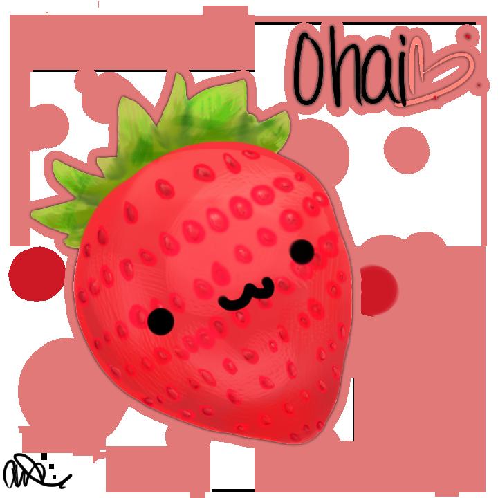 svg royalty free stock Kawaii Strawberry by Chibbur on DeviantArt