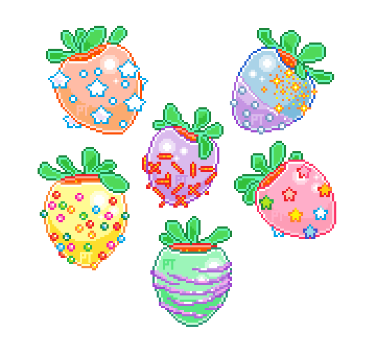 clip download i pixeld some sweet rainbow strawberries