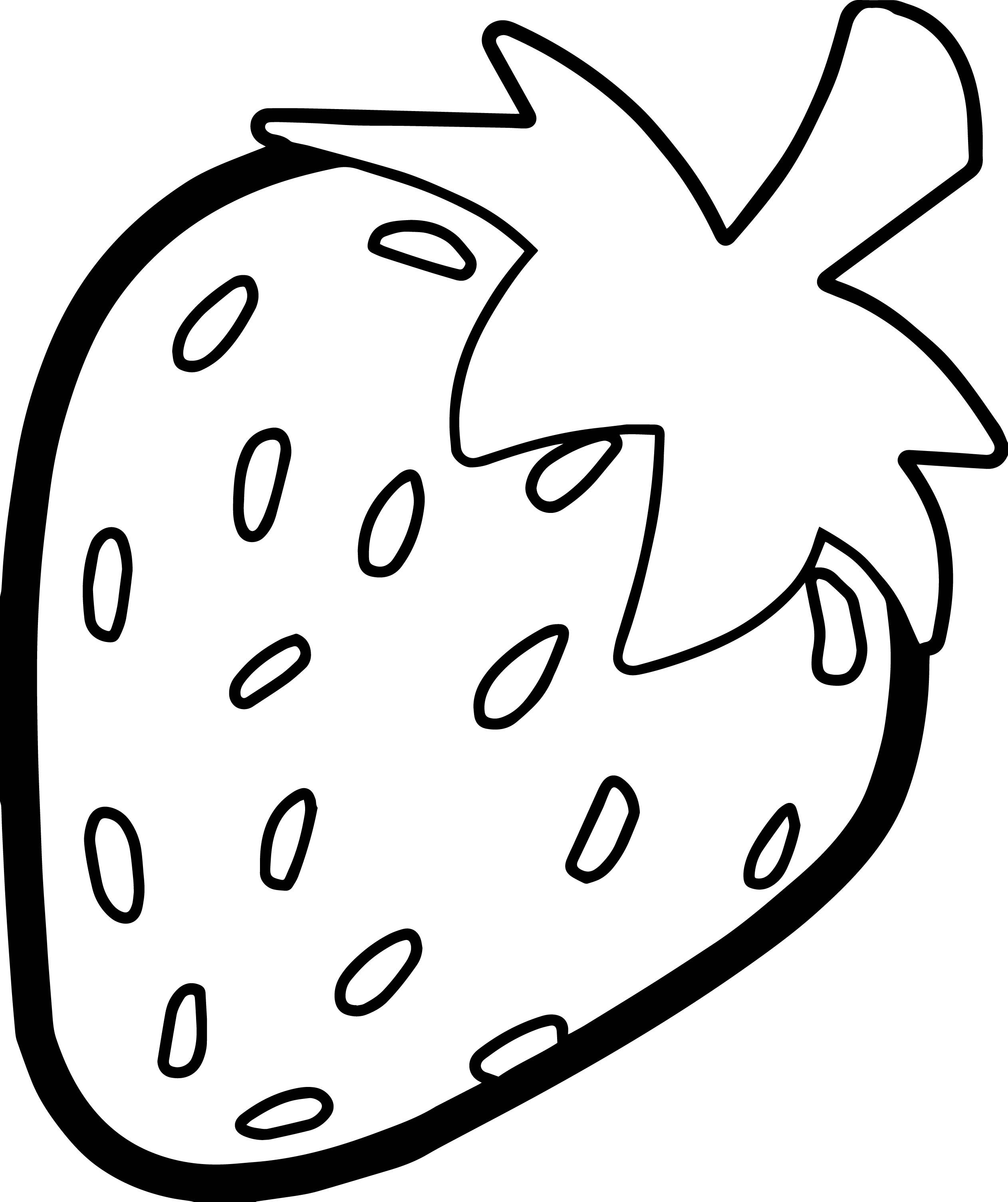 picture black and white Drawing strawberries outline. Nice strawberry bold coloring