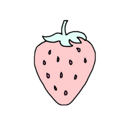 image freeuse stock strawberry cute pastel pixel pink blue green yellow