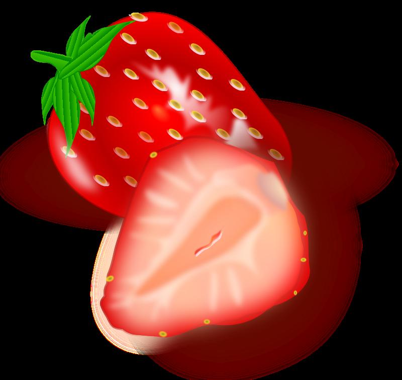 clip art black and white stock Strawberries