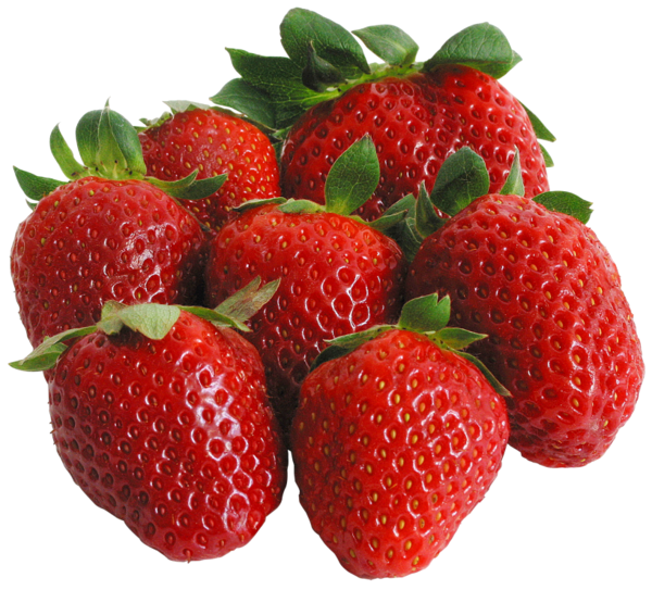 black and white Large PNG Strawberries Clipart