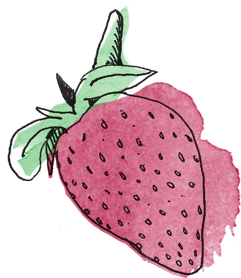 banner freeuse stock Drawing strawberries illustration. Strawberry hearts hjentertains cut