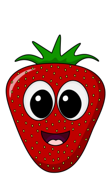 image black and white Strawberry clipart draw