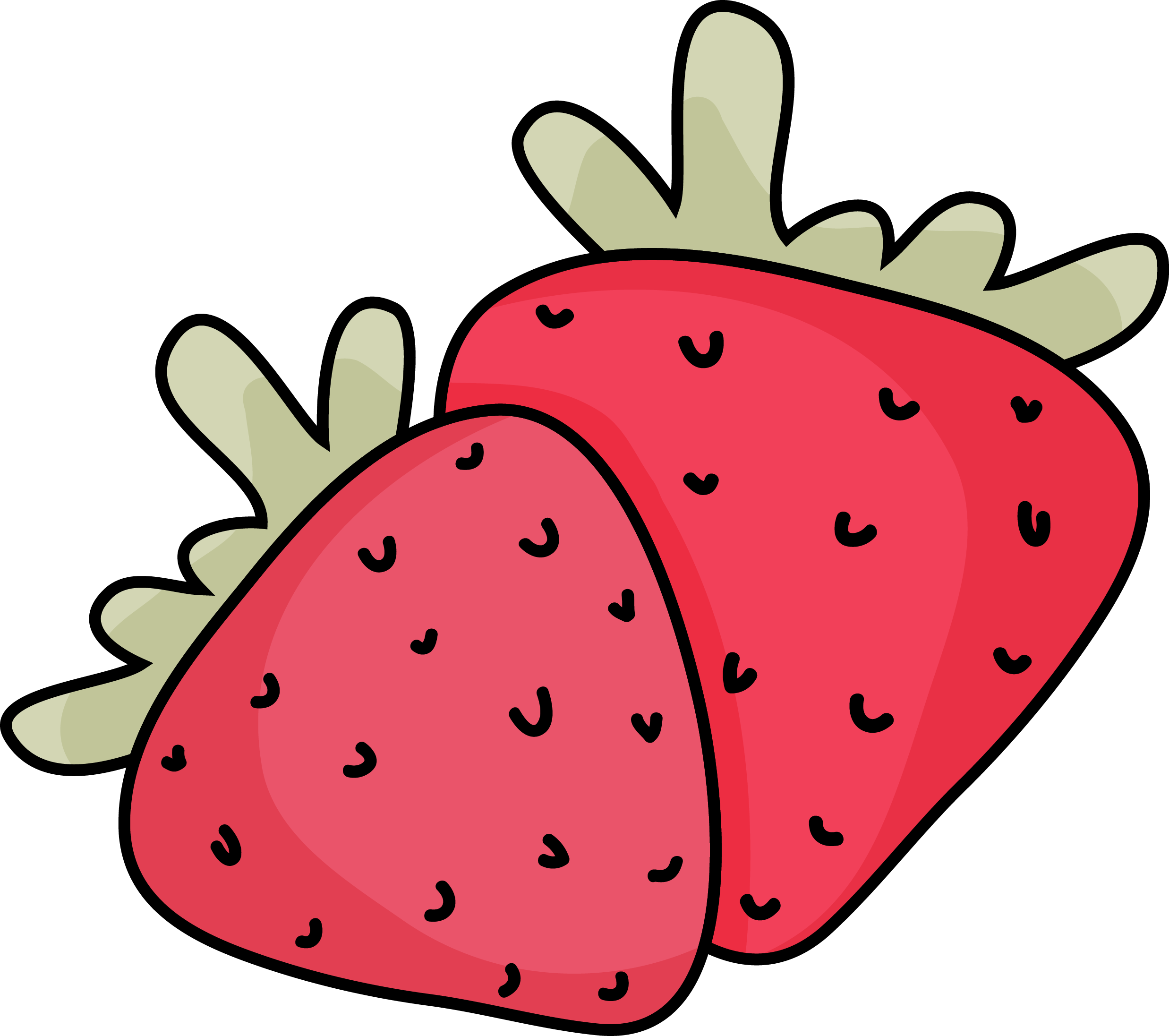 stock Strawberry strawberriescolor. Drawing strawberries cartoon