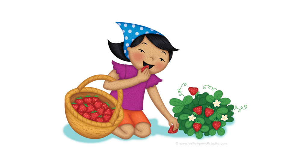 image strawberry picking