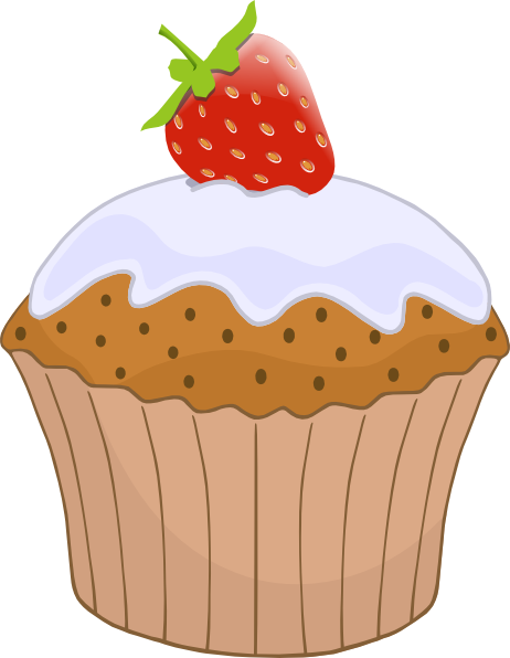 banner library Cupcake With Strawberry On Top Clip Art at Clker