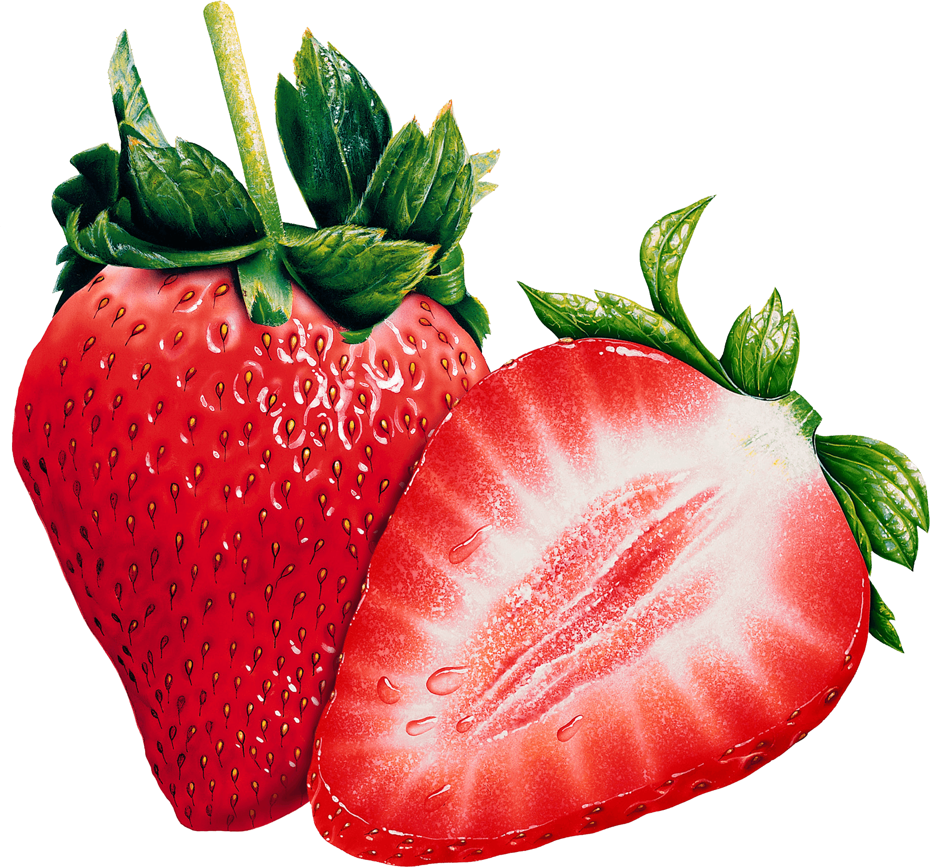 png royalty free library Two Strawberries transparent PNG