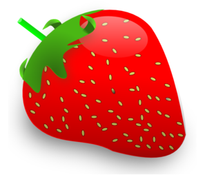 clip art black and white library Strawberry