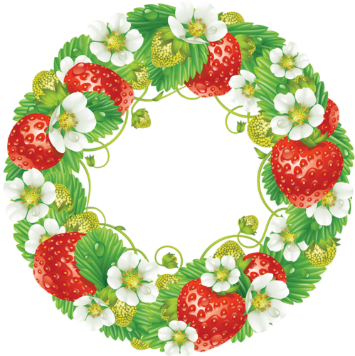 clip transparent strawberries clipart wreath #84156699