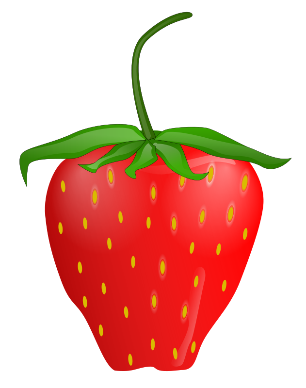 jpg black and white download Strawberry clipart. Recipes vegetables fruit cherries